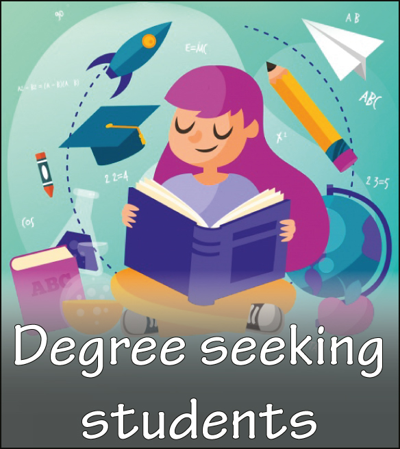 degree seeking students