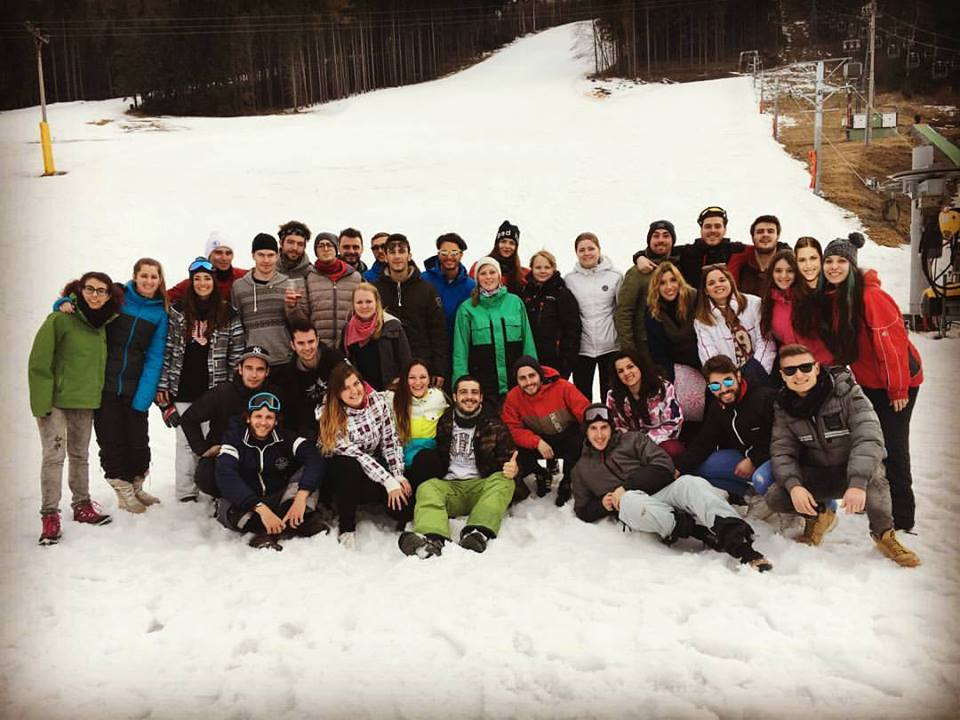 Ski trip with our international students